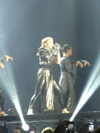 "Madonna telling us all about how she can take us ""there,"" similar to praying."