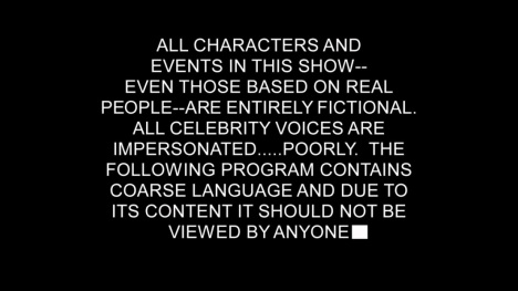 One of my favorite disclaimers of all time. #SouthPark #NoApologies