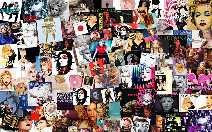 Madonna Singles Collage